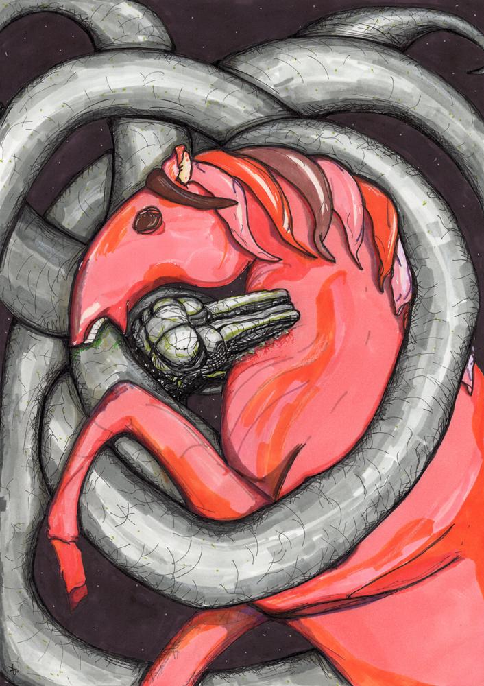 Конь Красные копыта